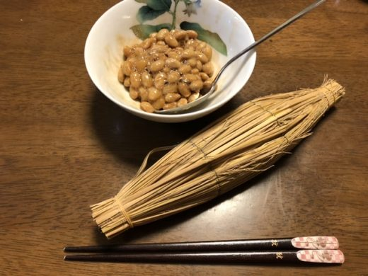 藁包装の納豆!!
