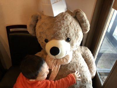 長男とクマ@ステーキのあさくま