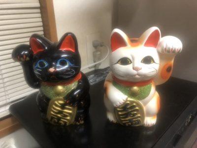 招き猫の誤った並べ方