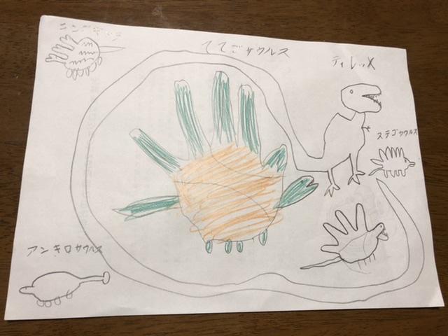 長女が描いた恐竜