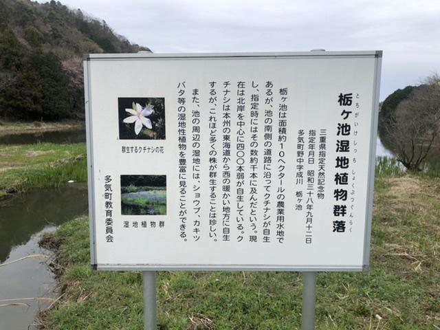 栃ヶ池湿地植物群落の看板