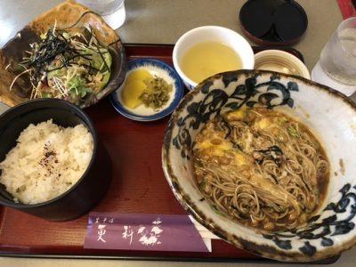 更科・山かけ納豆そば(冷)定食