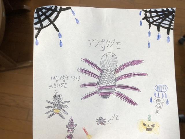 長女が描いたアシダカグモ
