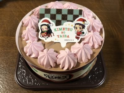 鬼滅の刃のクリスマスケーキ1