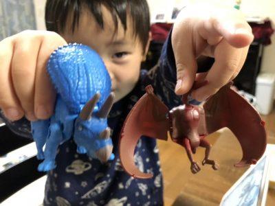 トリケラトプスとプテラノドン