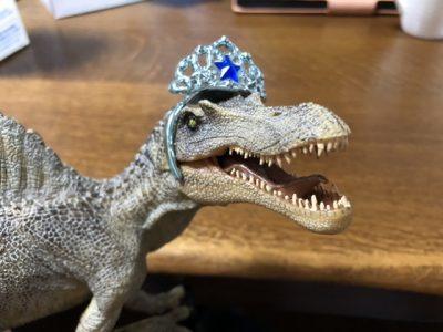 ティアラをつけたスピノサウルス