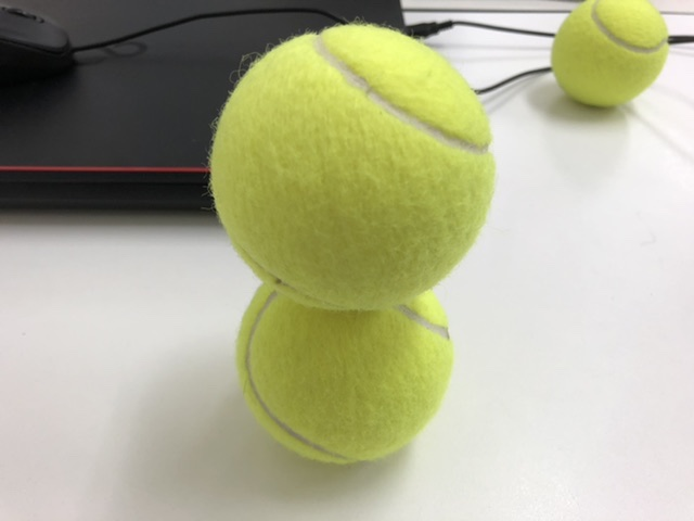 テニスボールで集中力アップ!